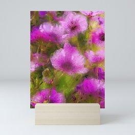 Purple Geraniums Mini Art Print