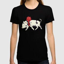 Cute Little Pig Holiday Design T-shirt