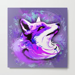 Purple Fox Spirit Metal Print