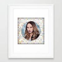 jared leto Framed Art Prints featuring Jared Leto by Will Costa