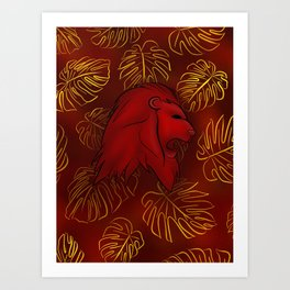 Griffindor, Bravery and Courage Art Print