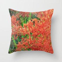 Secret Garden | Red Spider Lily Throw Pillow
