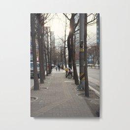December in Seoul. Metal Print