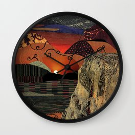 Sunset on the horizon Wall Clock