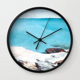 Landscape in Bermuda by Winslow'Homer' Wall Clock