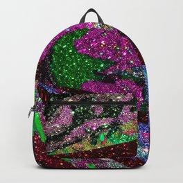Peacock Mermaid Lavender Abstract Geometric Backpack