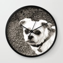 Molly black and white Wall Clock
