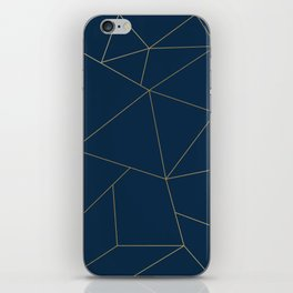 Golden Crystal Web Pattern iPhone Skin