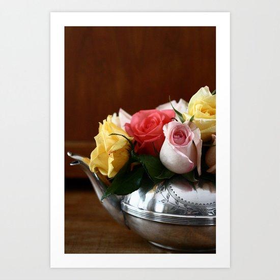 Rose Tea II Art Print