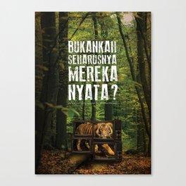 Harimau Sumatra - Sumatra Tiger Canvas Print