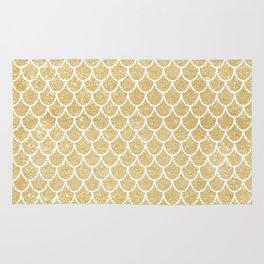 Mermaid Tail Pattern  |  Gold Glitter Rug