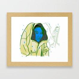 Blue Face Framed Art Print