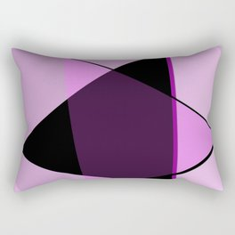 Oh blacky pink ... Rectangular Pillow
