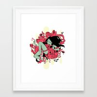 sneaker Framed Art Prints featuring Sneaker Run by Annehz Why