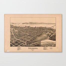 Aerial View of Columbia, Pennsylvania (1894) Canvas Print