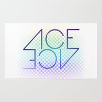 ace Area & Throw Rugs featuring Ace Ace by Covered In Moons
