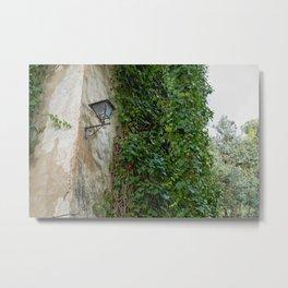 lamppost in an abandoned rural street Metal Print