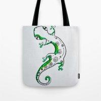 lizard Tote Bags featuring Lizard by Olga_Kh