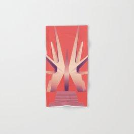 Futuristic Monuments Of Old Yugoslavia Hand & Bath Towel