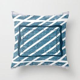striped stamp Throw Pillow