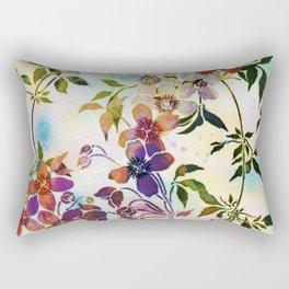 garland of flowers Rectangular Pillow