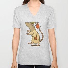 Muroidea Rat Tarot- The Fool Unisex V-Neck