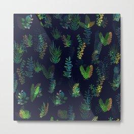 green garden at nigth power version Metal Print