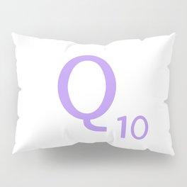 Monogram Letter Q Purple Scrabble Pillow Sham