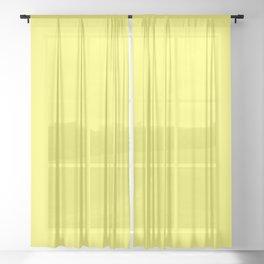 Yellow Sheer Curtain