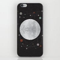 the moon iPhone & iPod Skins featuring Moon by FLATOWL
