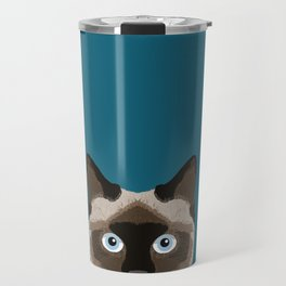 Ezra - Siamese Cat, Cute Kitten Retro Cat Art cell phone case, siamese, cute cat Travel Mug