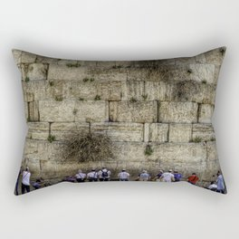 Wailing Wall Panorama Rectangular Pillow