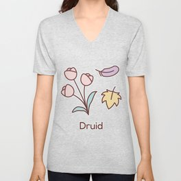 Cute Dungeons and Dragons Druid class Unisex V-Neck