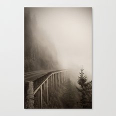 Misty Bridge Canvas Print