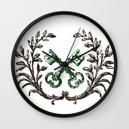 Keys with Flourish Wall Clock