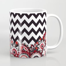 Floral Chevron. Mug