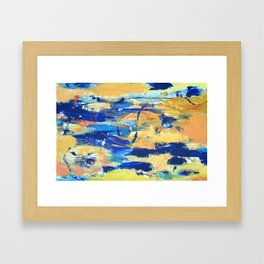 Blue and Yellow Framed Art Print