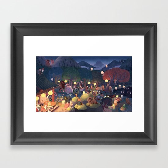 Yokai Party Framed Art Print