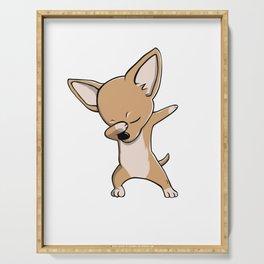 Funny Dabbing Chihuahua Dog Dab Dance Serving Tray