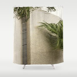 minimal palms Shower Curtain