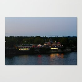 A Night on the River Canvas Print