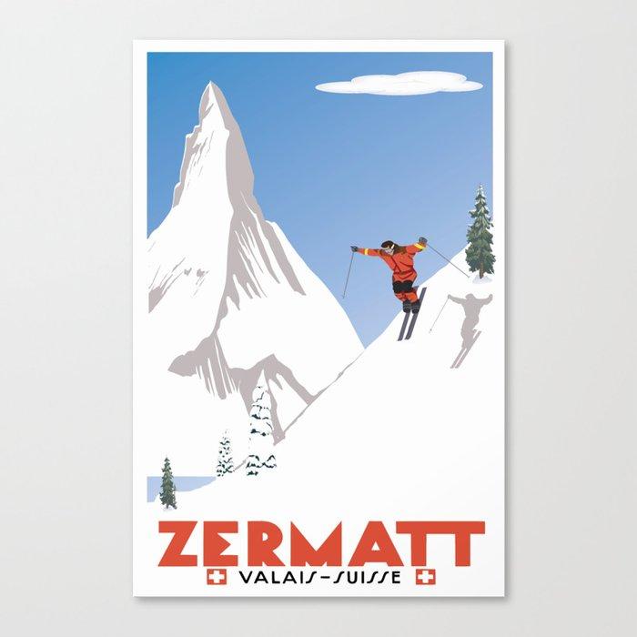 Zermatt, Valais, Switzerland Leinwanddruck