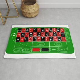Roulette Table Rug