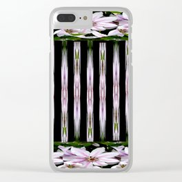 Pink Stars and Stripes Clear iPhone Case