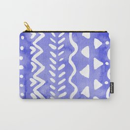 Loose boho chic pattern - ultramarine blue Carry-All Pouch