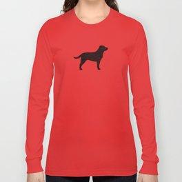 Black Labrador Retriever Silhouette Long Sleeve T-shirt