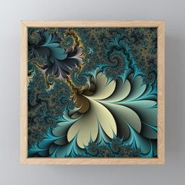 Birds of a Feather Fractal Framed Mini Art Print
