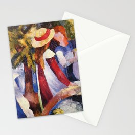 Girls Under Trees, August Macke, 1914 Stationery Cards