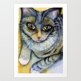 Cleo Kitty Art Print