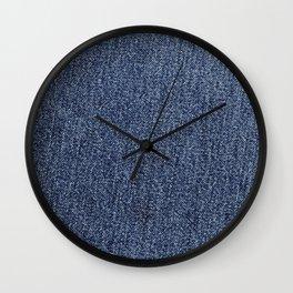 Washed Denim Fabric (Twill Textile) - Blue Wall Clock